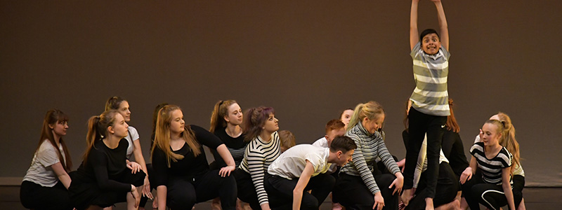 Preston Youth Dance Company performing Body Image Schools Tour