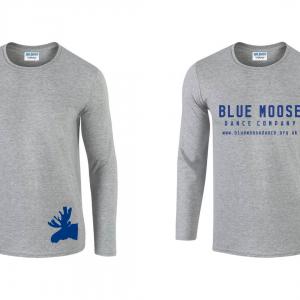 blue moose long sleeved grey