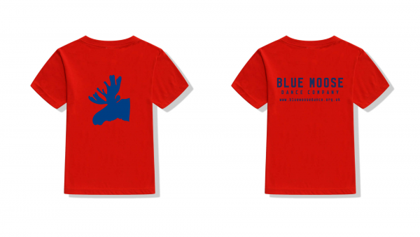 blue moose t-shirt red navy